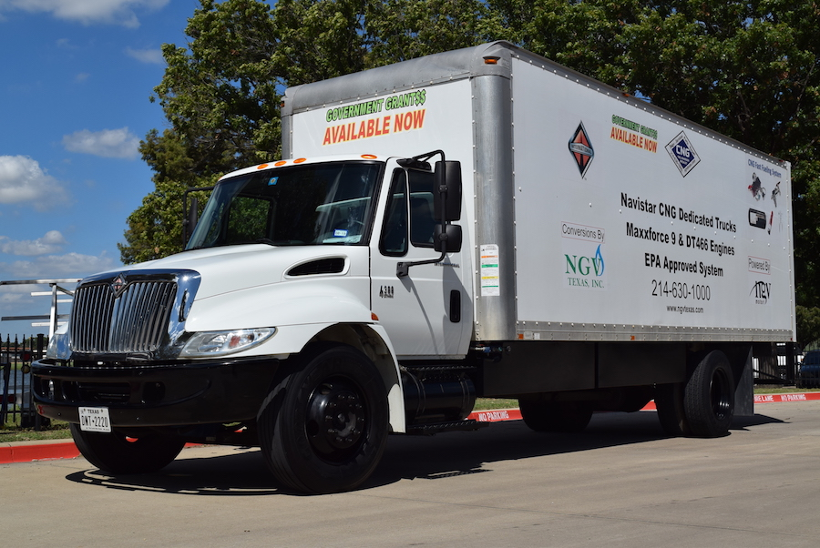 CNG box truck